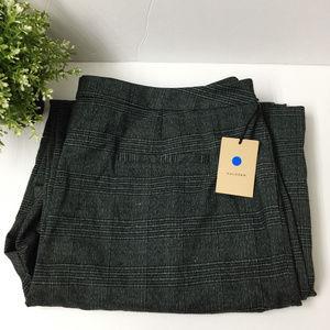Halogen Women's Plaid High Waist Wide Leg Pants 18